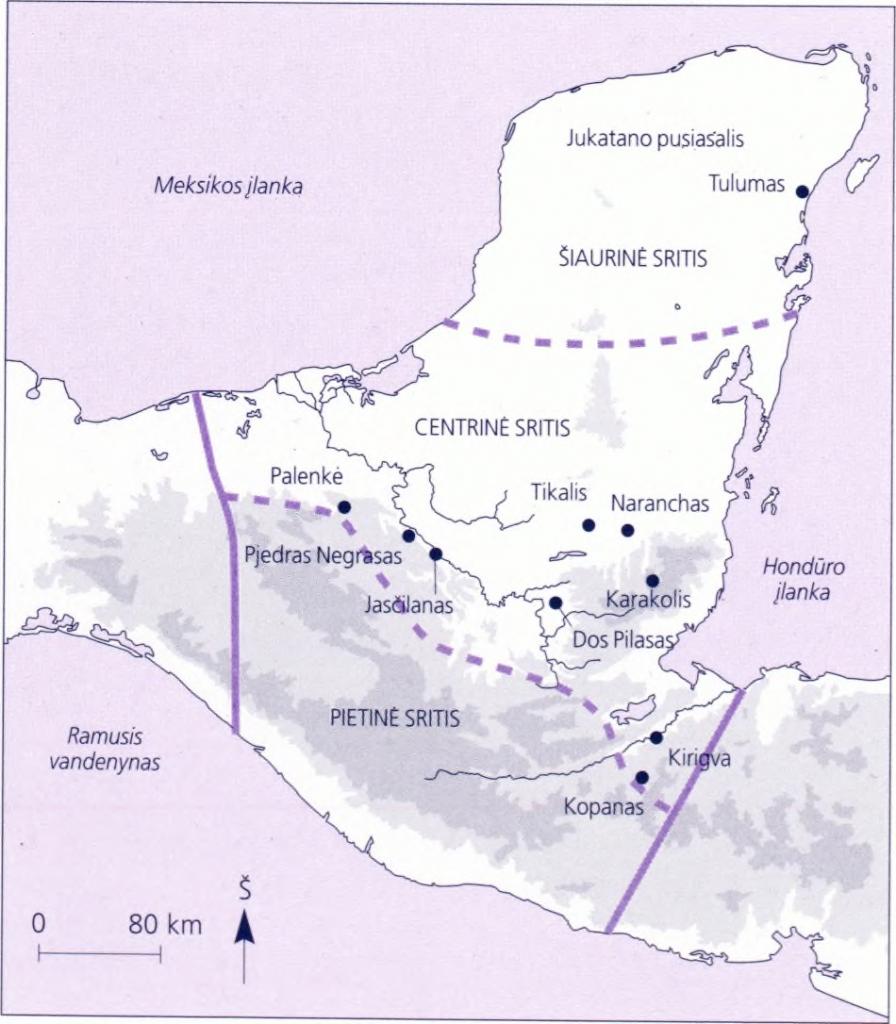 majų žemėlapis