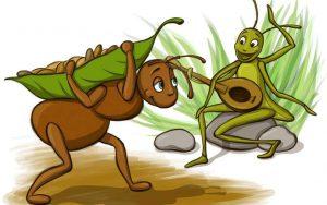 žiogas ir skruzdė
